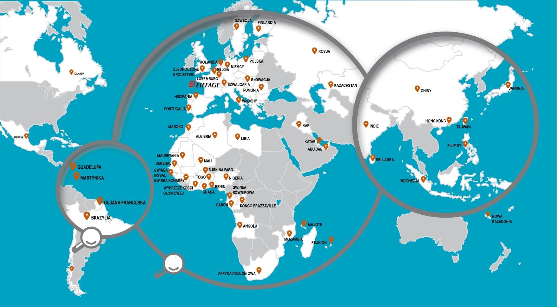 Grupa Eiffage na świecie
