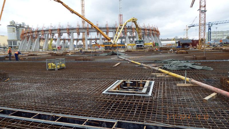 Największe betonowanie whistorii Eiffage Polska Budownictwo