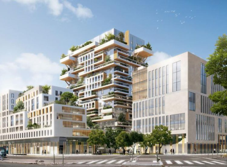 Hypérion: Eiffage starts the construction of the tallest wooden residential tower in France