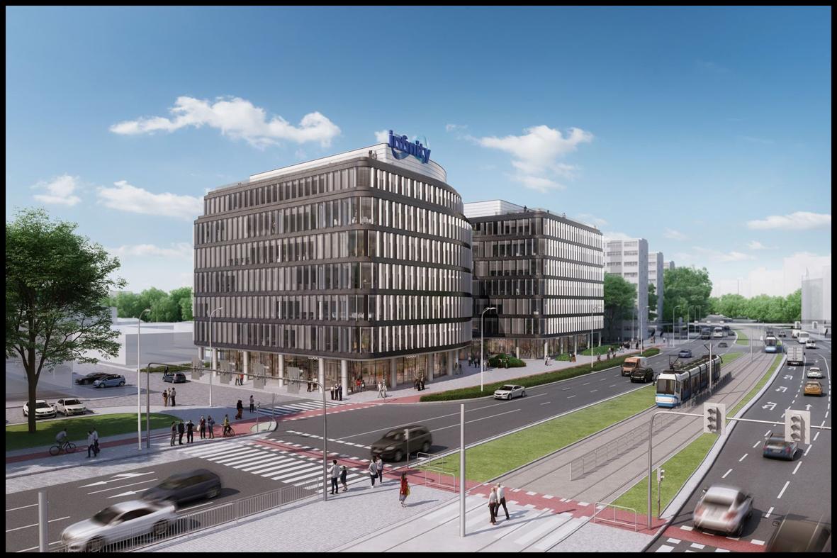 Eiffage Polska Budownictwo rozpoczyna budowę biurowca Infinity weWrocławiu