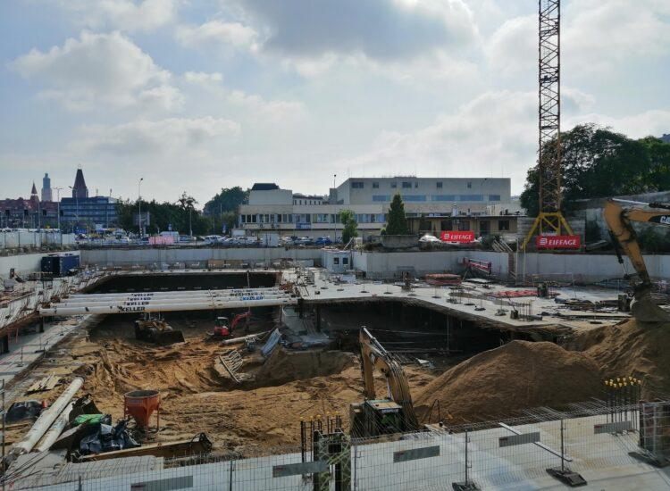 Biurowiec Infinity – zaawansowane prace podziemne wścisłym centrum Wrocławia