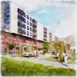Wyjątkowa, pełna zieleni iudogodnień przestrzeń powstaje przy nowej inwestycji Eiffage weWrocławiu